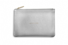 Katie Loxton ALL THAT GLITTERS Perfect Pouch Clutch Bag  Metallic Silver